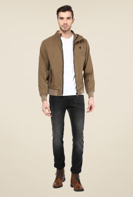Monteil And Munero Brown Solid Jacket