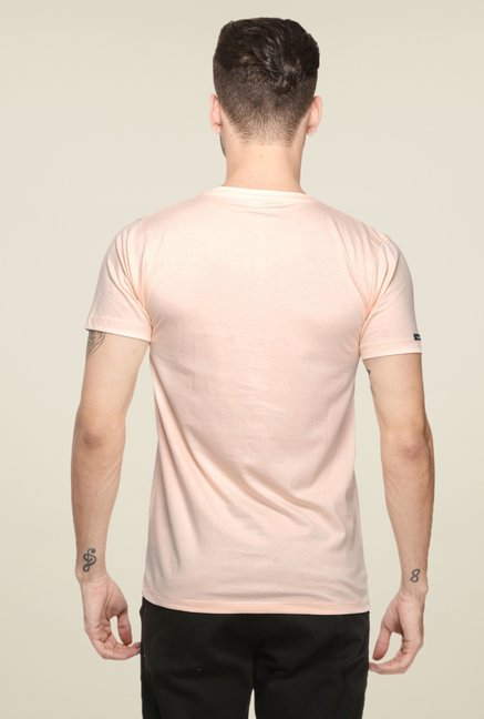 Mode Vetements Peach Solid T Shirt