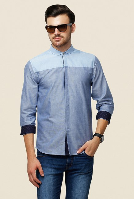 Yepme Ashten Blue Solid Shirt
