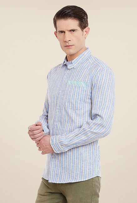 Yepme William Blue Striped Shirt