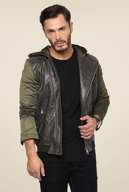 Yepme Robert Olive Solid Jacket