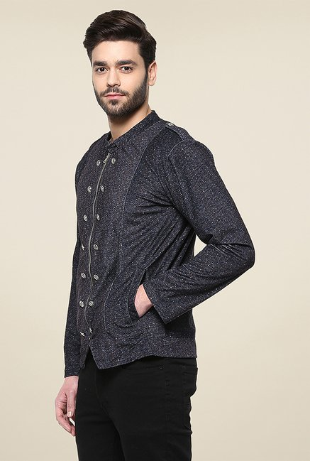Yepme Siddle Navy Printed Jacket