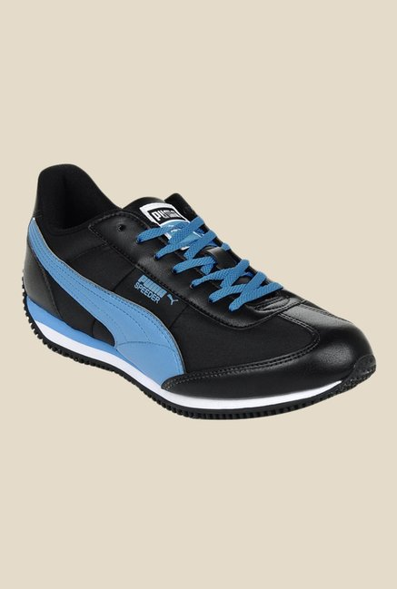 1d4accb5c8b013 Buy Puma Speeder Tetron II Ind. Black   Blue Running Shoes for Men at Best  Price   Tata CLiQ