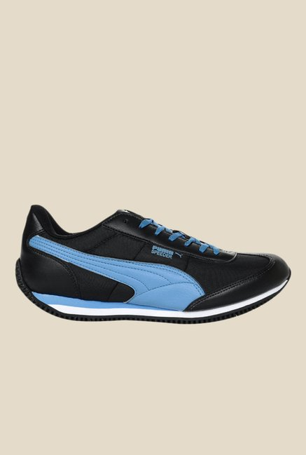 8e77a2c644f Buy Puma Speeder Tetron II Ind. Black   Blue Running Shoes for Men ...