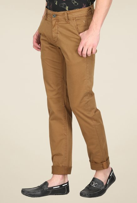 Mufti Khaki Slim Fit Chinos