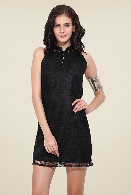Trend Arrest Black Lace Dress