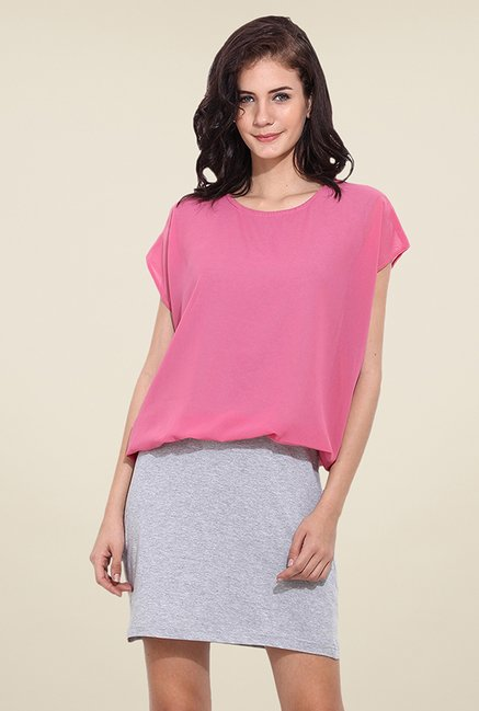 Trend Arrest Pink Solid Dress