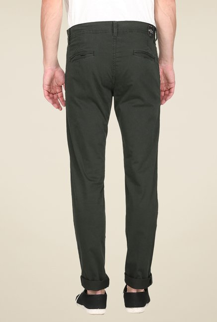 Mufti Olive Slim Fit Chinos