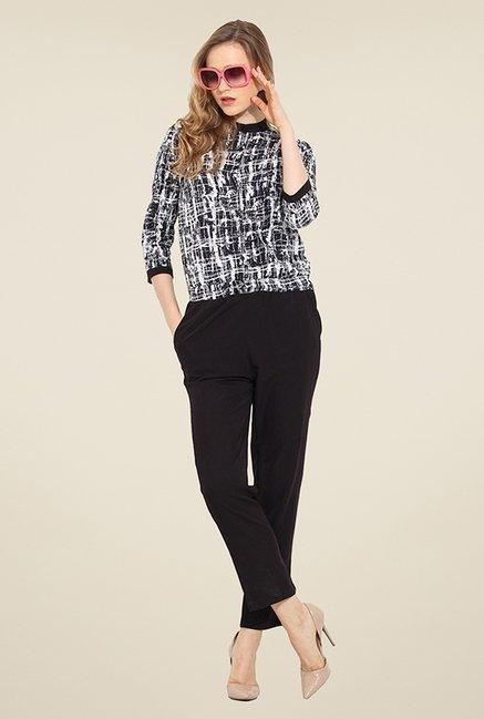 Trend Arrest Black & White Printed Jumpsuit