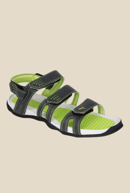 50bed2f8324 Buy Puma Aripon 3 DP Dark Grey   Green Floater Sandals for Men at ...
