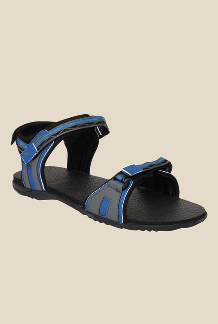 f58db657834683 Buy Puma Nova Ind. Grey   Blue Floater Sandals for Men at Best Price   Tata  CLiQ
