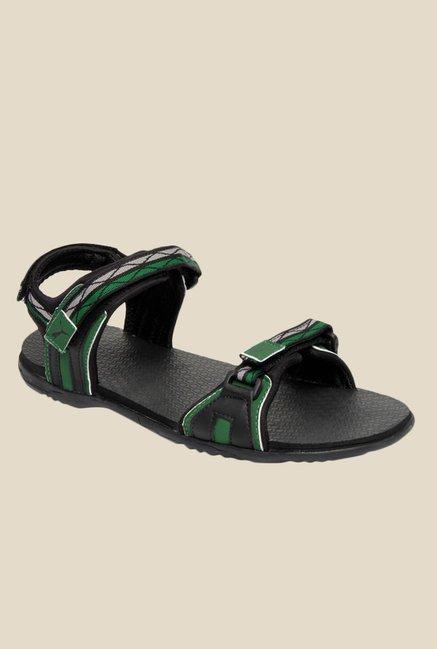 a811c030b7e1 Buy Puma Nova Ind. Black   Green Floater Sandals for Men at Best Price    Tata CLiQ
