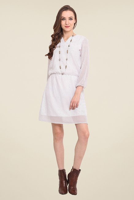 Trend Arrest White Polka Dot Dress
