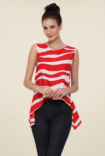 Trend Arrest Red Printed Top