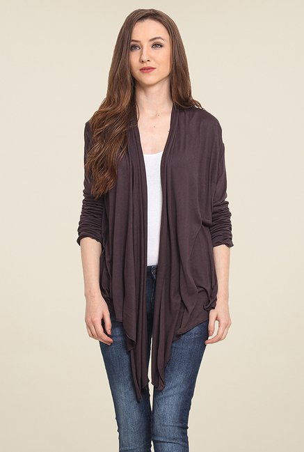 Trend Arrest Dark Grey Solid Shrug