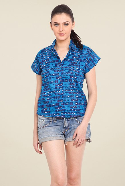 Trend Arrest Blue Printed Shirt