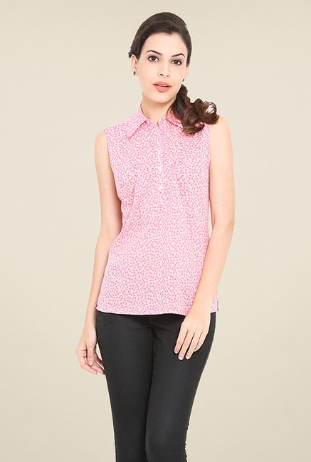 Trend Arrest Pink Printed Shirt