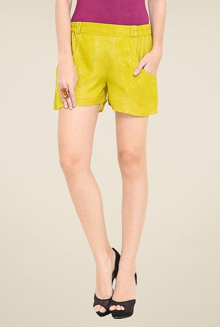 Trend Arrest Lime Self Print Shorts