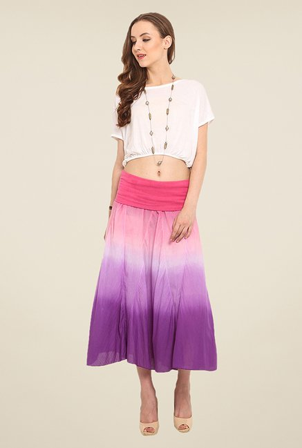 Trend Arrest Purple Solid Skirt