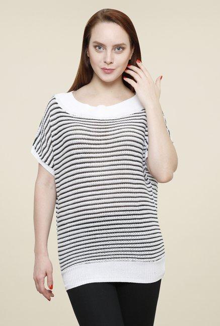 Renka White Striped Top