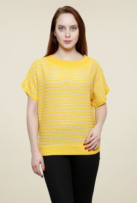Renka Yellow Striped Top