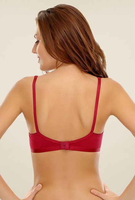Clovia Maroon & Red Non Padded Bra (Pack Of 2)