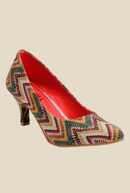 691e458dacbd Buy Nell Red   Green Stiletto Heeled Pumps for Women at Best Price   Tata  CLiQ