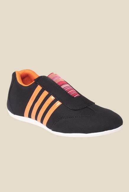 MSC Black & Orange Casual Shoes
