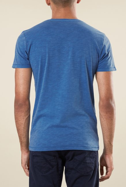 s.Oliver Blue Graphic Print T Shirt