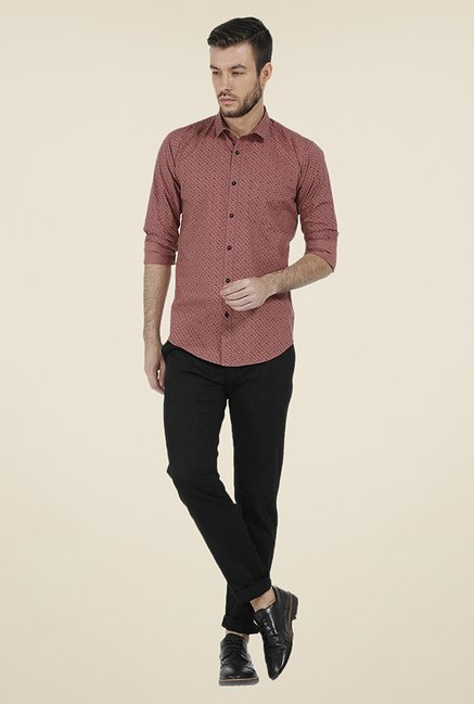 Basics Red Printed Shirt