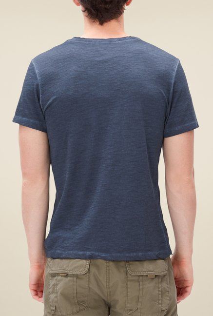 s.Oliver Navy Textured T Shirt