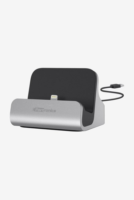 Portronics Docking Stand with Lightning Connector (Grey)