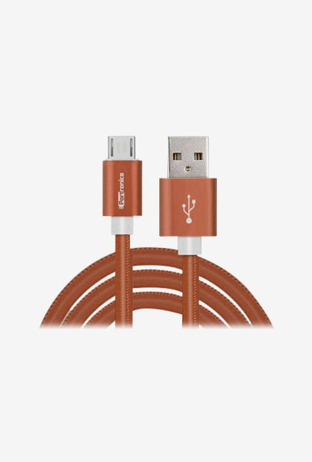 Portronics Turtle Micro USB Cable (Brown)