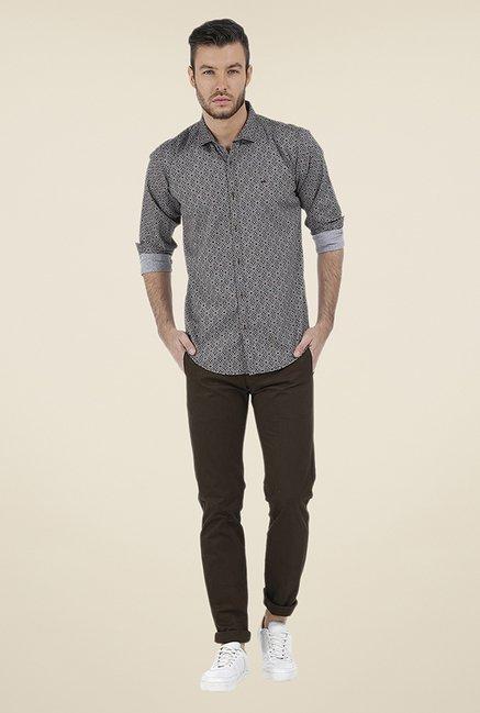 Basics Brown Printed Shirt