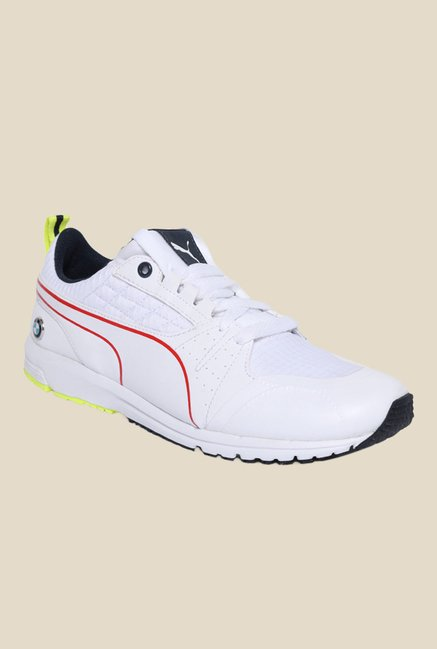 04d7a2536b2 Buy Puma BMW MS Pitlane White Running Shoes for Men at Best ...