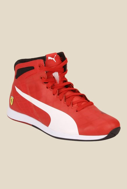 02c1af1c845b Buy Puma Ferrari evoSPEED 1.4 SF Mid Red Sneakers for Men at Best Price    Tata CLiQ