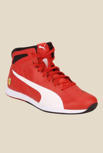 d57b0db9d39 Buy Puma Ferrari evoSPEED 1.4 SF Mid Red Sneakers for Men at Best Price    Tata CLiQ