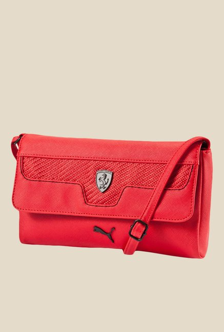 Buy Puma Ferrari LS Red Sling Bag For Women At Best Price   Tata CLiQ 52ac68d42a9f6
