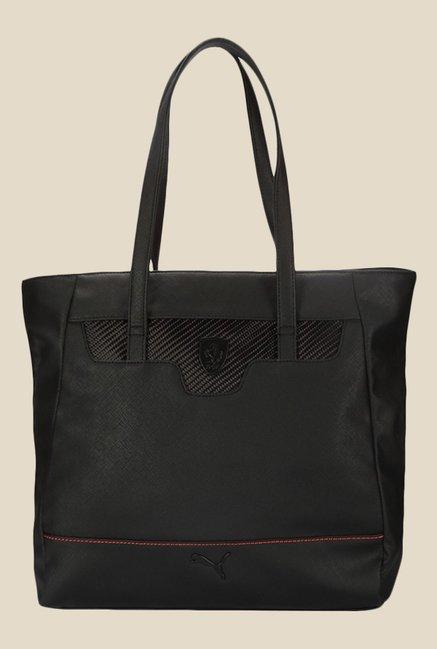 Buy Puma Ferrari LS Black Solid Tote Bag For Women At Best Price   Tata CLiQ 4e17777ed0e71