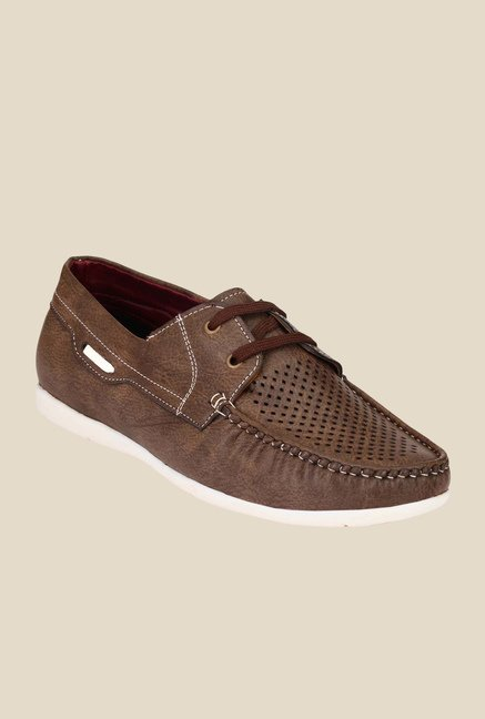 Ruggero Boaty Brown Derby Shoes