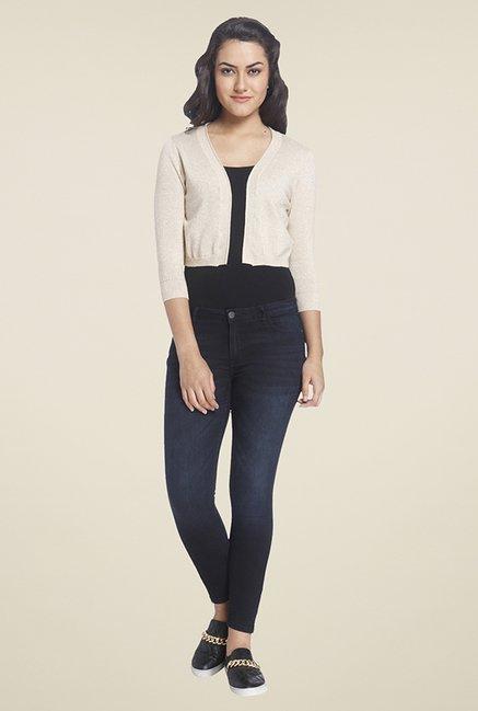 54b4cc72ae8 Buy Only Beige Textured Shrug For Women Online   Tata CLiQ