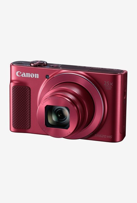 Canon PowerShot SX620 HS Point & Shoot Camera 8GB card + Charger + Carry Case (Red)