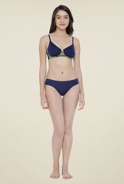 Amante Navy Non Padded Bra