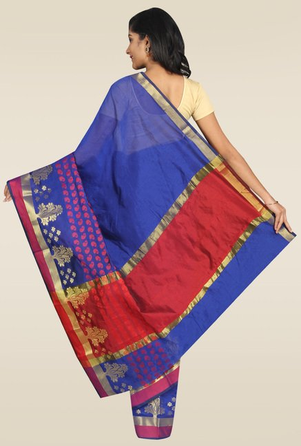 Pavecha Purple Solid Banarasi Saree
