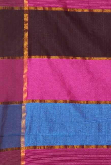 Pavecha Pink Banarasi Cotton Silk Saree