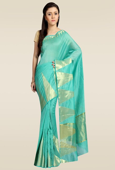 Pavecha Green Banarasi Silk Saree