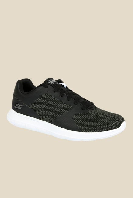 pretty nice autumn shoes special sales Buy Skechers Go Walk City Black & Green Running Shoes for ...