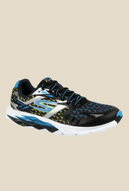 e9b4c241b794 Buy Skechers Go Run Ride 5 2016 Black   Blue Running Shoes for Men at Best  Price   Tata CLiQ