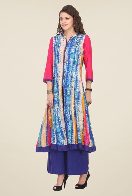 Varanga Multicolor Printed Kurta With Palazzo