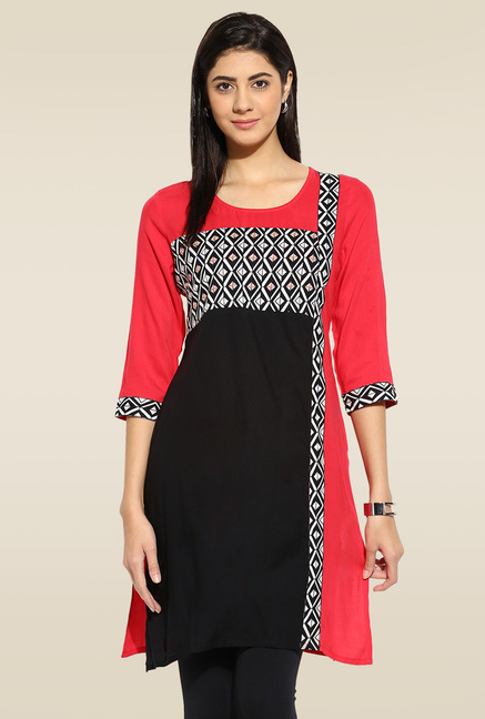 Mytri Multicolour 3/4th Sleeves Kurta